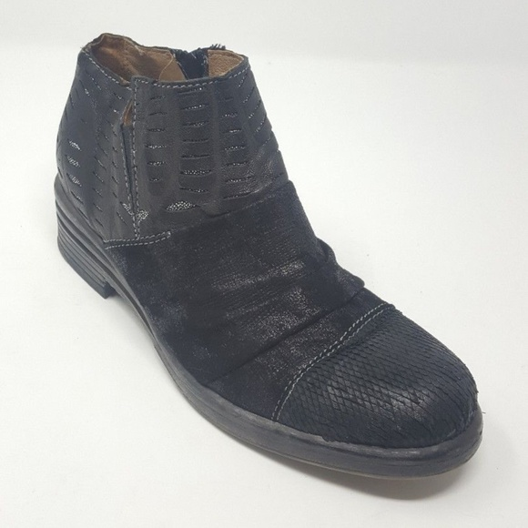 9351d2655db9e7 Clocharme Shoes - CloCharme Routard Moto Ankle Boot Leather Black